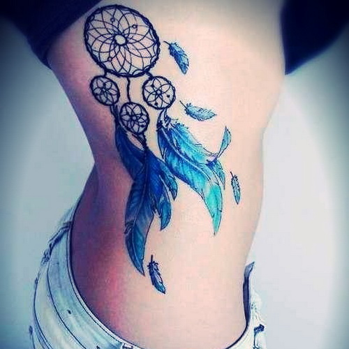 Dream Catcher Tattoo On Side Cool Right Side Dreamcatcher Tattoo