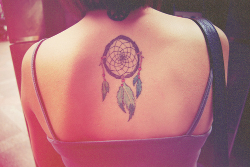 Upperback Dreamcatcher Tattoo