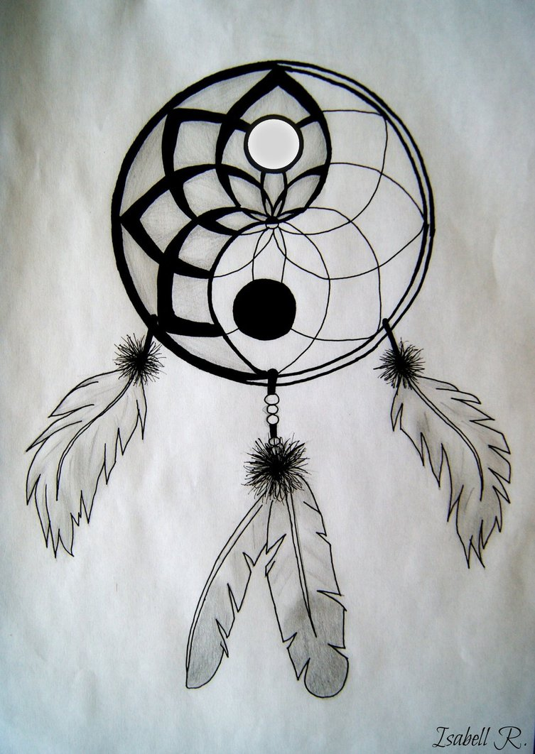 Yin and yang quotes like success for Dream catcher drawing easy