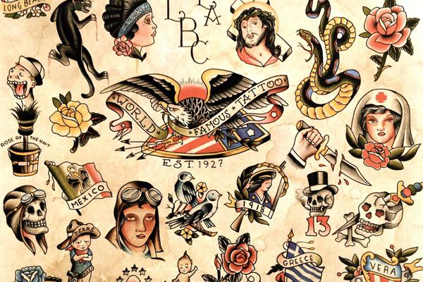 Old School Vintage Tattoo Design