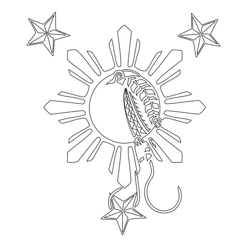Nautical Stars And Filipino Tattoo On Shoulder