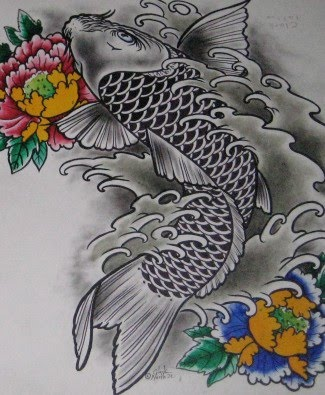 Fish tattoo images designs for Black koi fish meaning