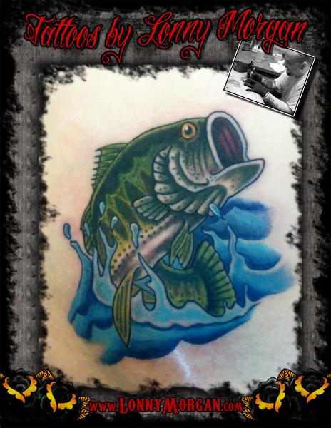 Bass Fish Tattoo Design