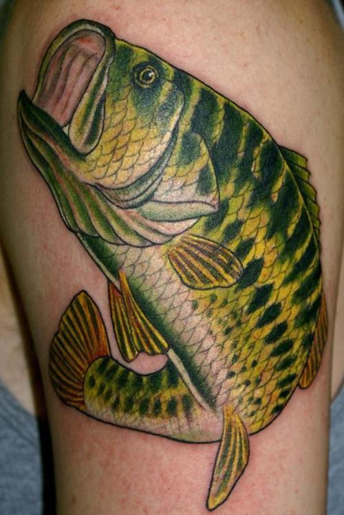 Maori Largemouth Bass Tattoo: Fish Tattoo Images & Designs