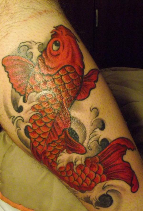 Fish tattoo images designs for Red fish tattoo