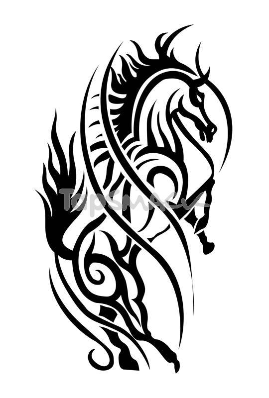 Horse design tattoo