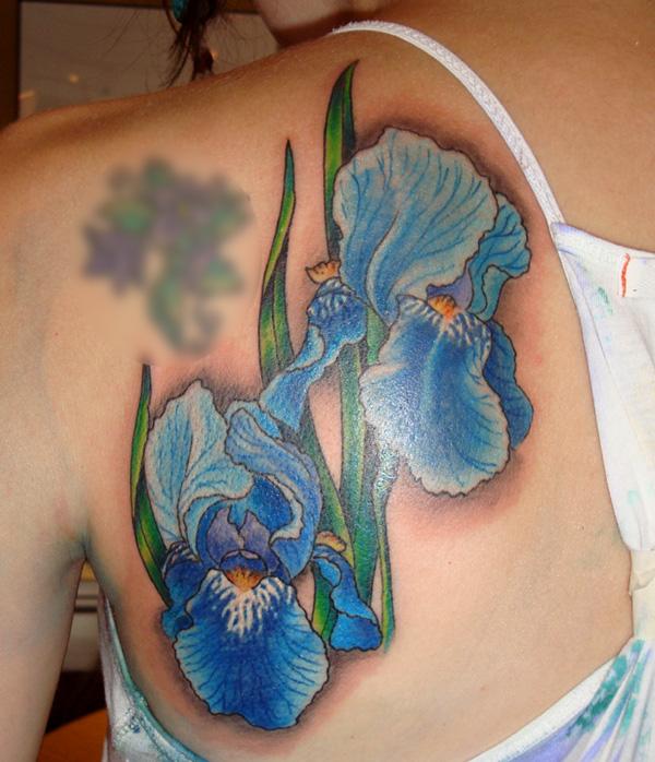 Blue iris tattoo iris tattoo images amp designs