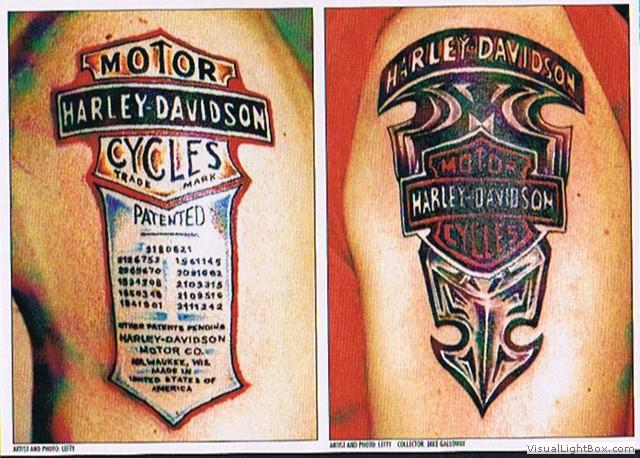 Old school harley tattoos