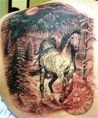 d304137f1f57b Horse Tattoo On Man Back Body