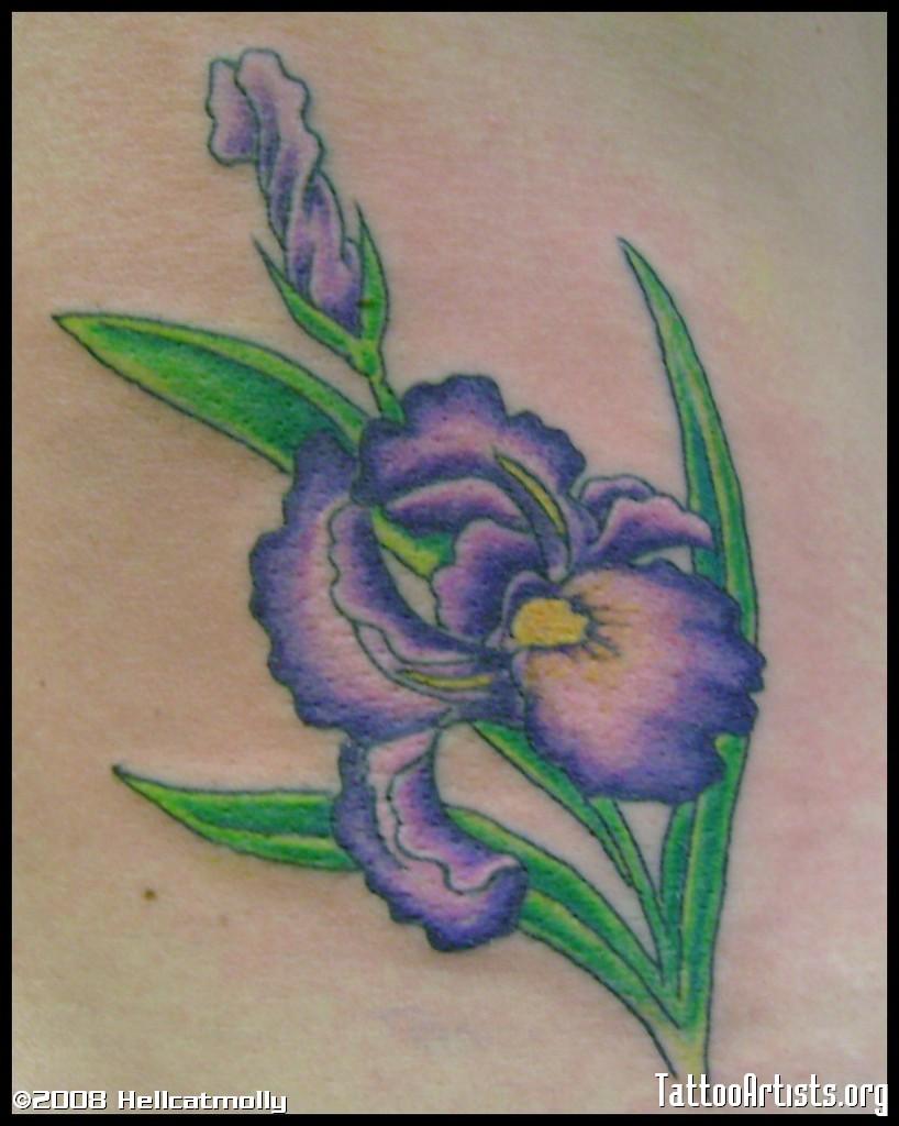 Iris flowers tattoo izmirmasajfo