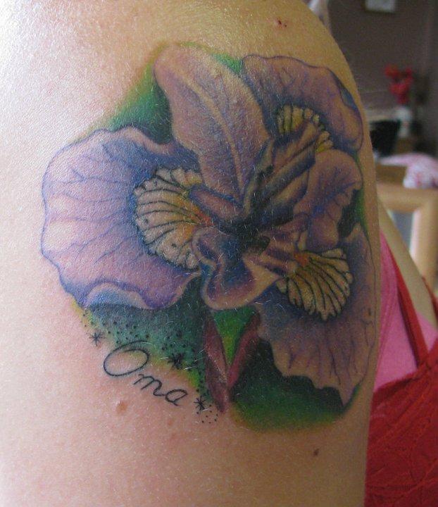 7156f8b78 Small Iris Tattoo On Arm