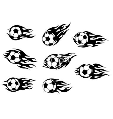 Tribal Flaming Football Tattoo DesignTribal Soccer Tattoos