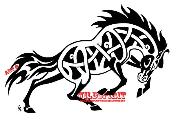 Tribal Horse Tattoo Design
