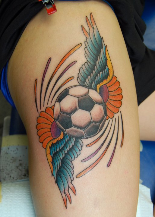 Football Tattoo Images Designs