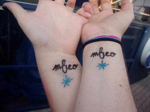 Friends Tattoo On Wrists