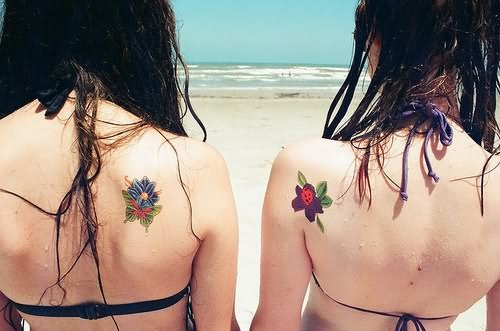 Friendship Tattoo On Back Shoulder