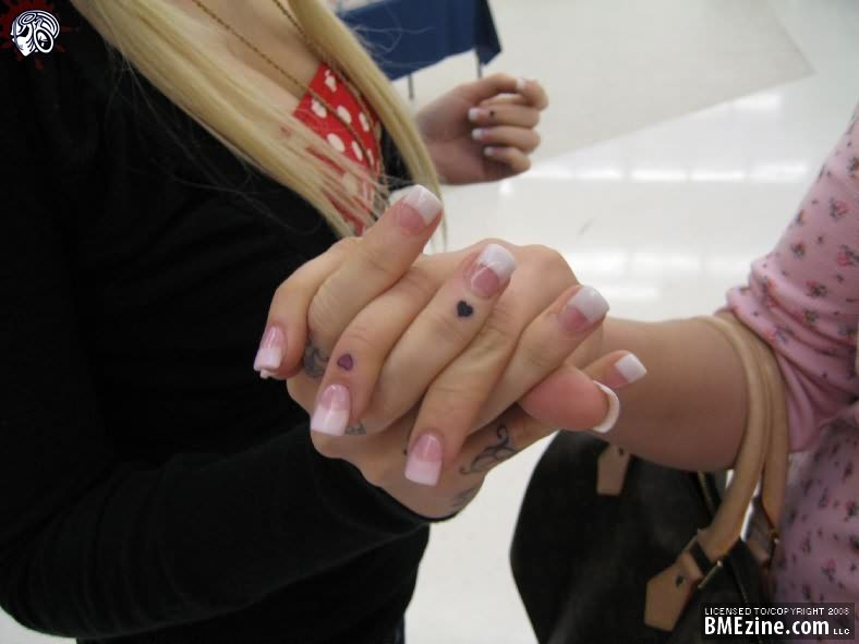Friendship Tattoo On Fingers