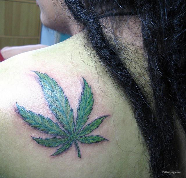 Leaf tattoo images designs for Weed tattoo images