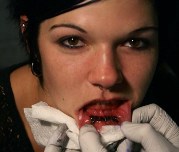 Lip Tattoo Images & Designs