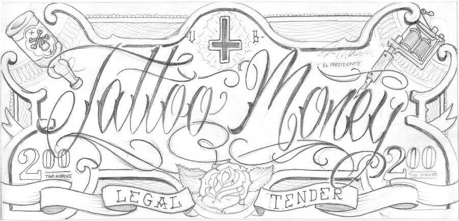Beautiful Money Tattoo Design