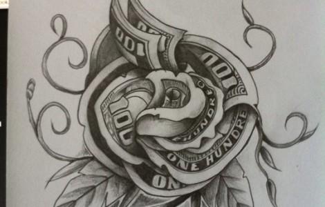 Money Tattoo Images & Designs - photo#7