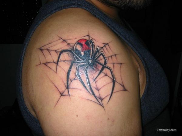 Spider tattoo images designs for Black widow spider tattoo