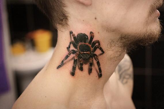3d тату паук фото