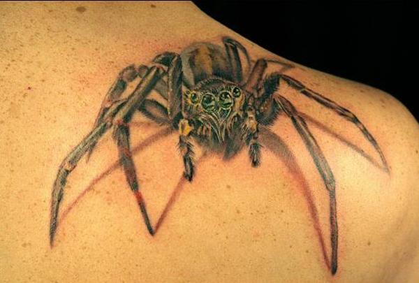 spider tattoos page 3. Black Bedroom Furniture Sets. Home Design Ideas