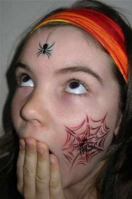 face tattoo Spider