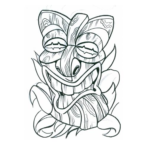Tiki Tattoo Images & Designs