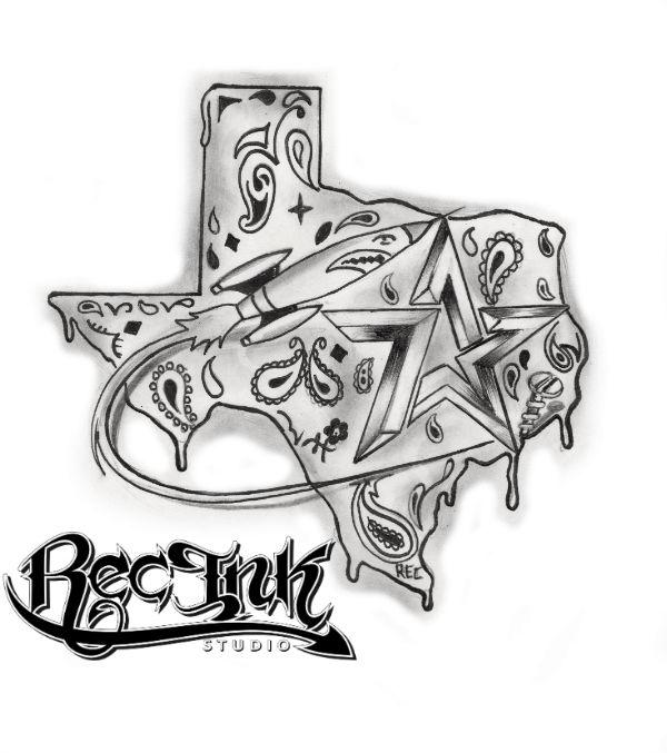 Title Texas Map Tattoo