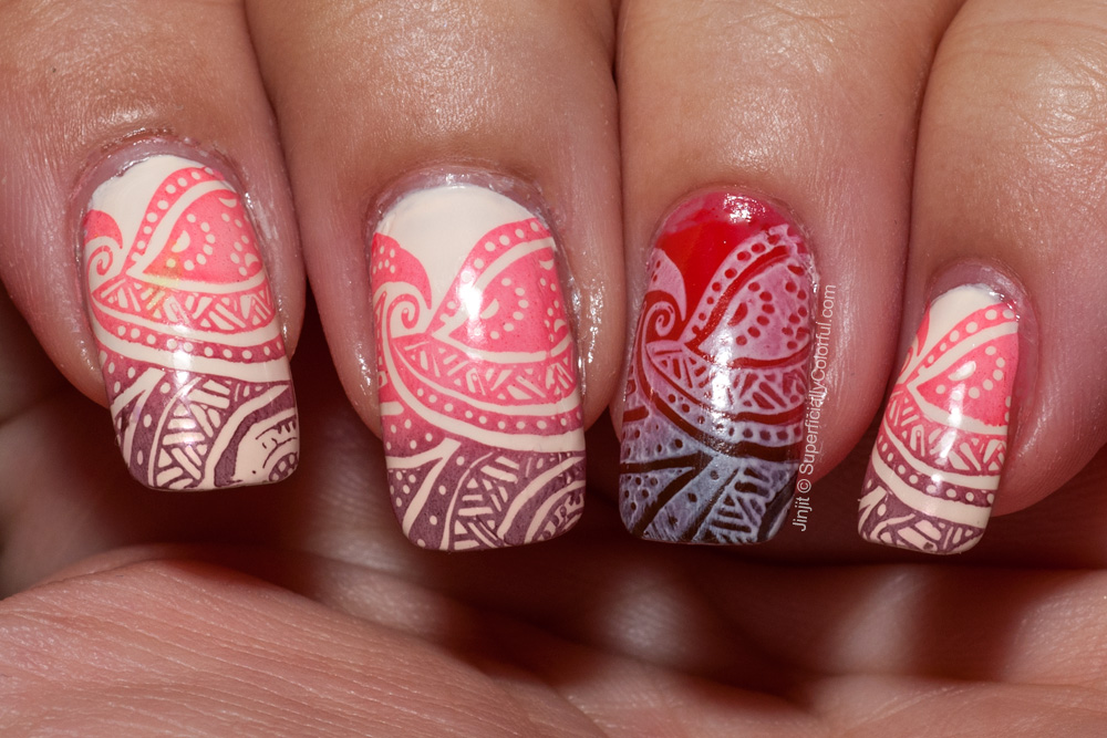 Henna Nail Tattoos Design For Girls
