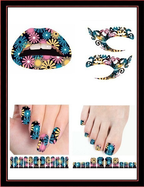 lips and nail tattoos designs. Black Bedroom Furniture Sets. Home Design Ideas