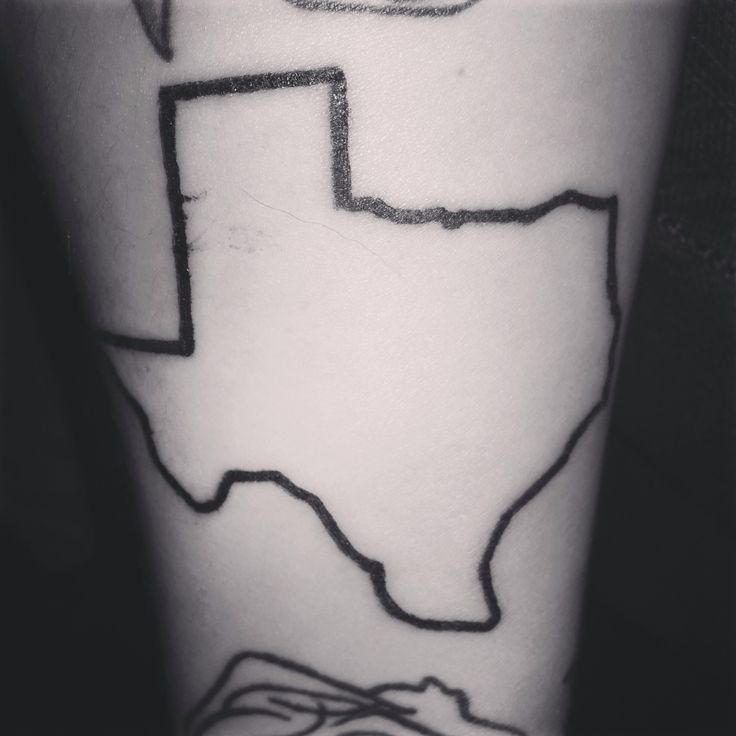 texas outline tattoos