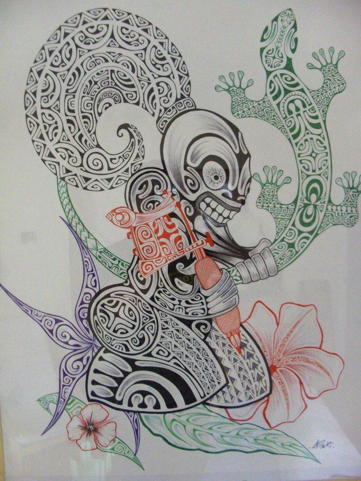 Polynesian Tiki Tattoo Designs: Japanese Polynesian Tattoo Designs