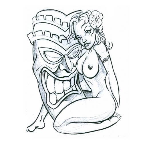 Tiki Tattoo Images & Designs
