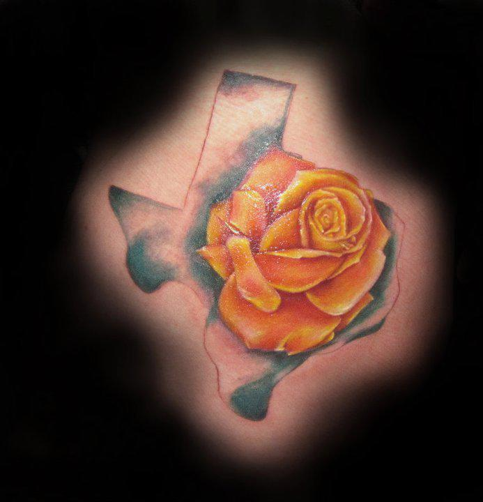 Tattoo Ideas Yellow Rose: Texas Tattoo Images & Designs
