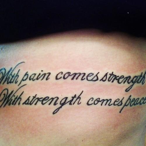 Amazing Strength Quote Tattoo