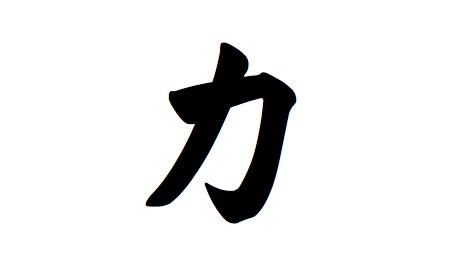 Chinese Symbol Strength Tattoo Design