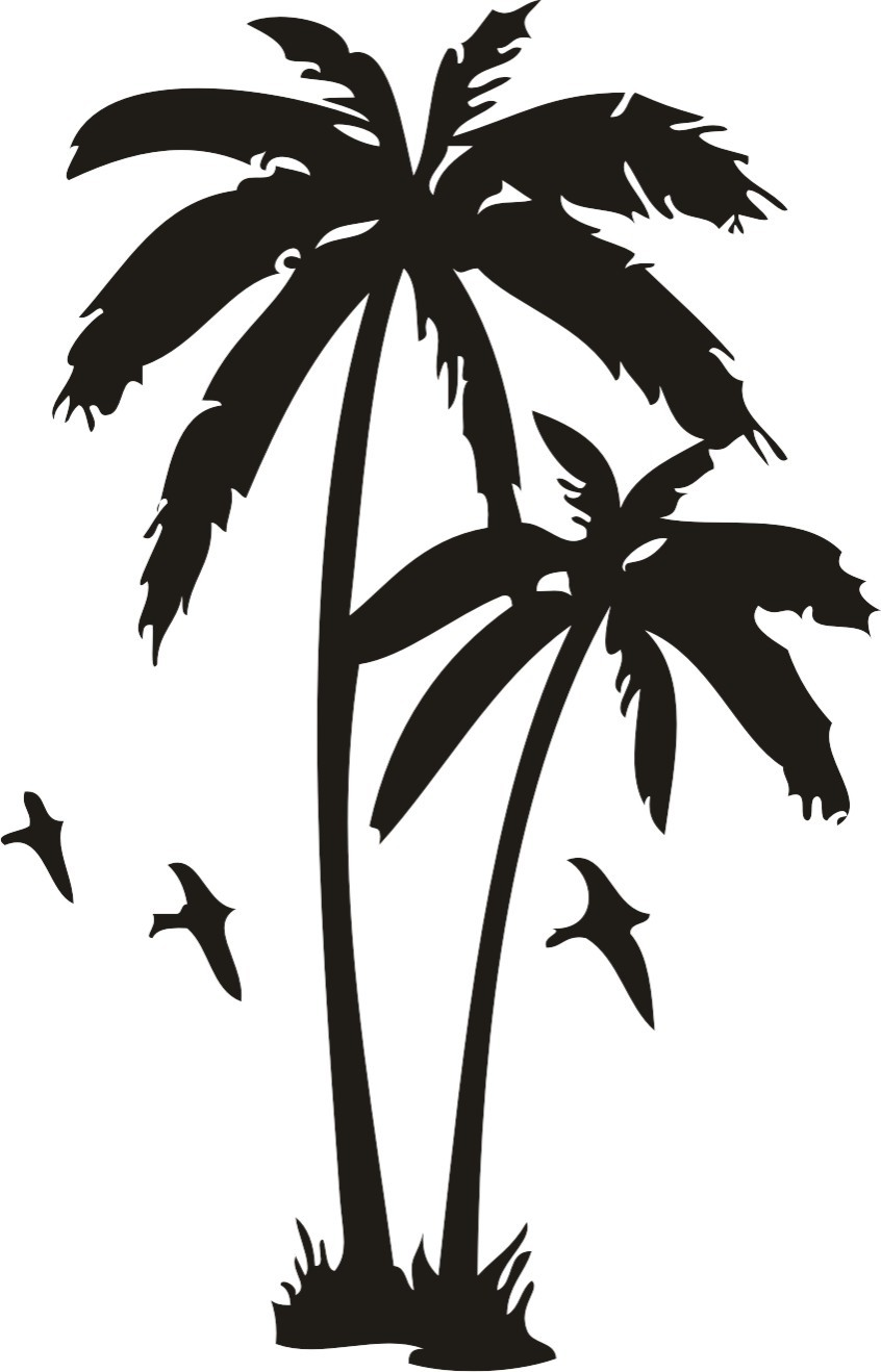 Gallery For gt Black Cartoon Palm Tree