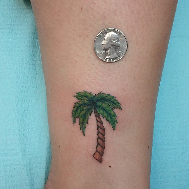 Palm tree tattoo images designs for Palm tree ankle tattoo
