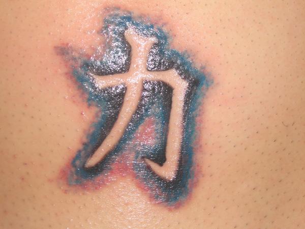 Kanji Symbol Strength Tattoo