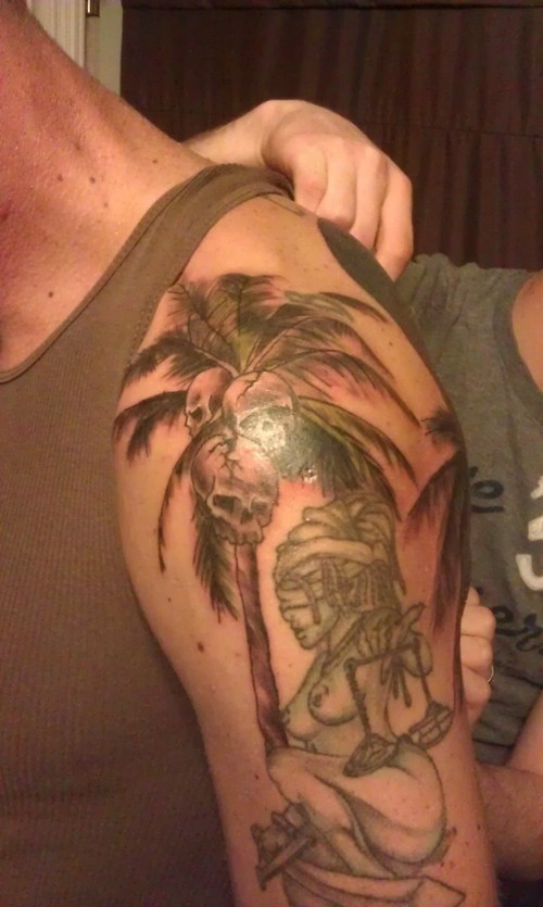 Palm Tree Tattoo Palm Tree Tattoo on Left Half