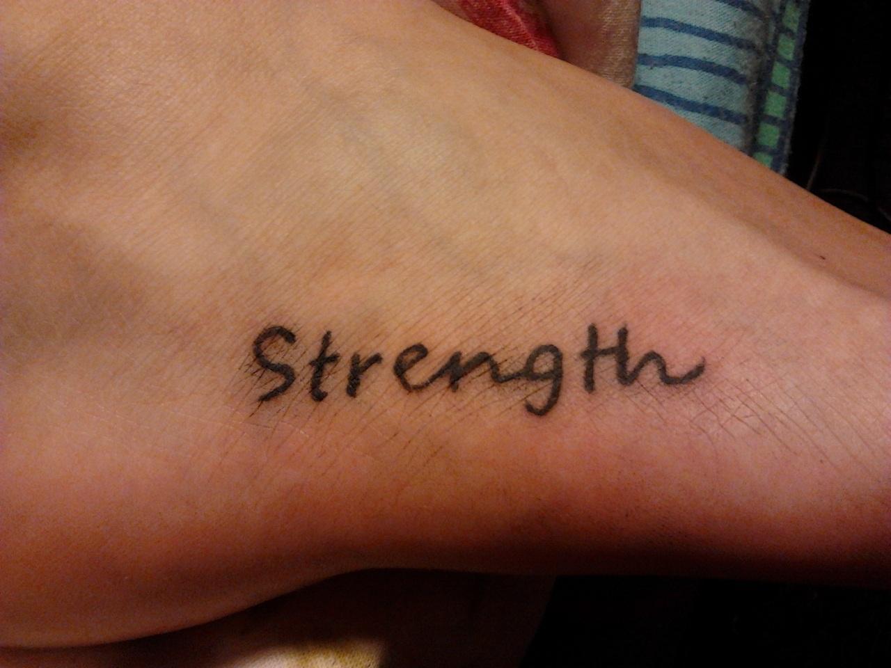 Strength tattoo images designs for Strength tattoos ideas