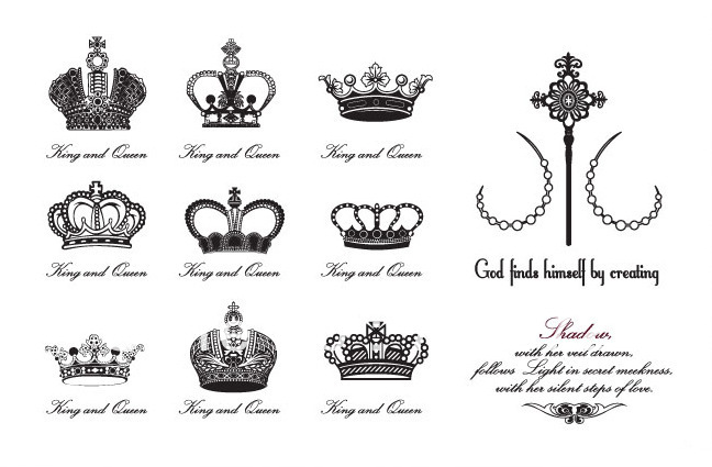 Imperial Crown Tattoos Designs For Girls