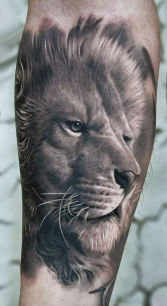 Animal tattoo images designs for Best lion tattoos