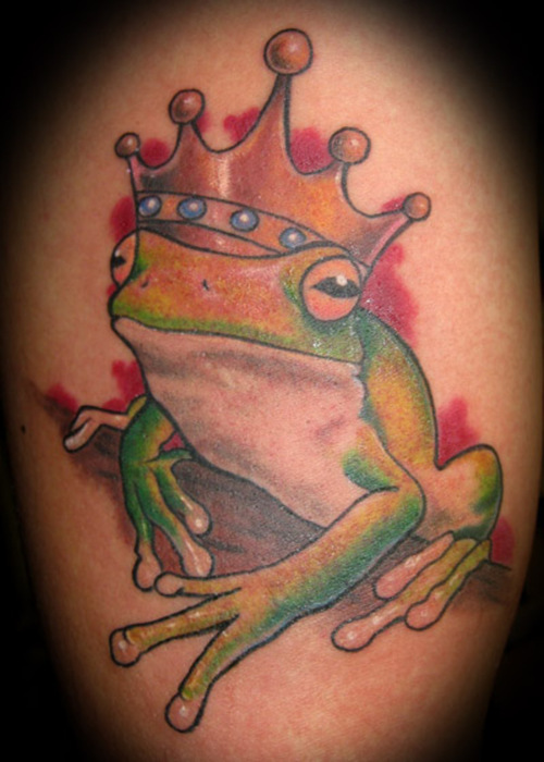 Cartoon Frog With Crown Tattoo Crown tattoos can be designed in many ways. tattoostime com