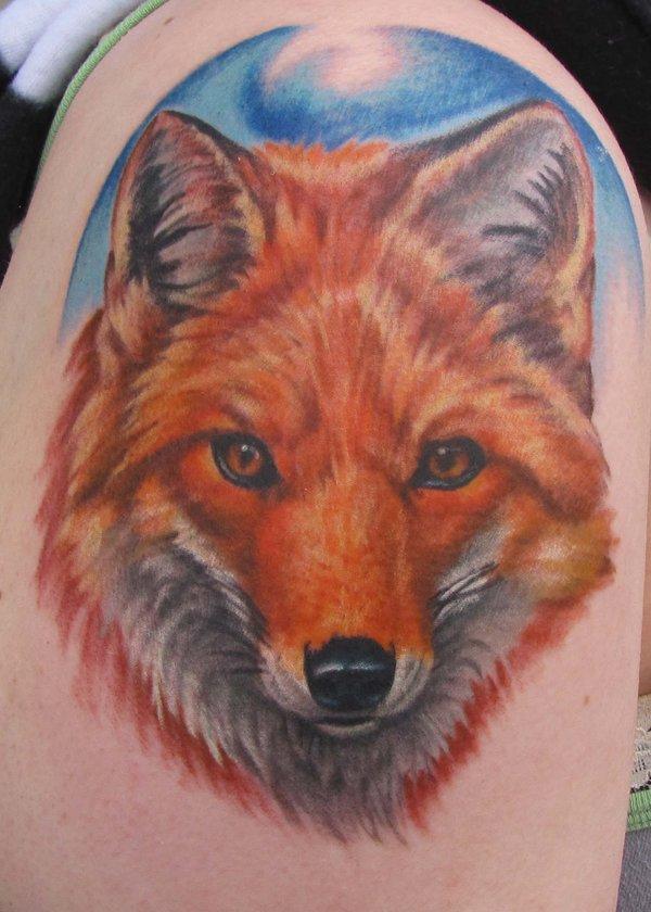 Running Fox Tattoo Cut...