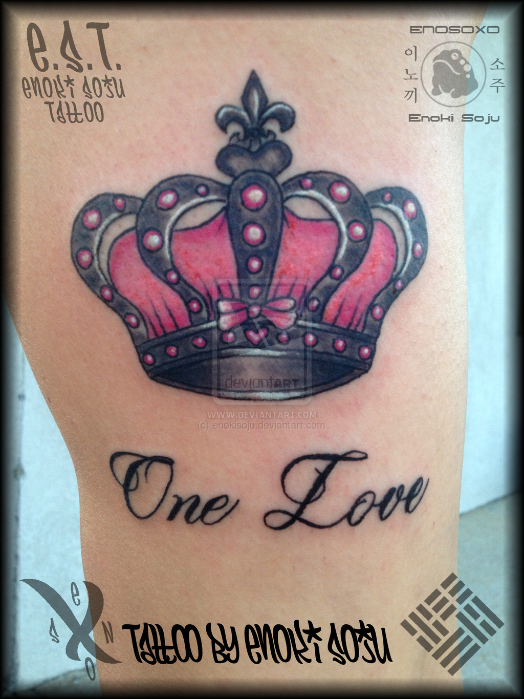 Crown tattoos page 48 for One love tattoo designs