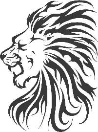 Tribl Lion Head Animal Tattoo Design